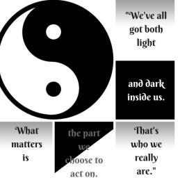We've all got both light