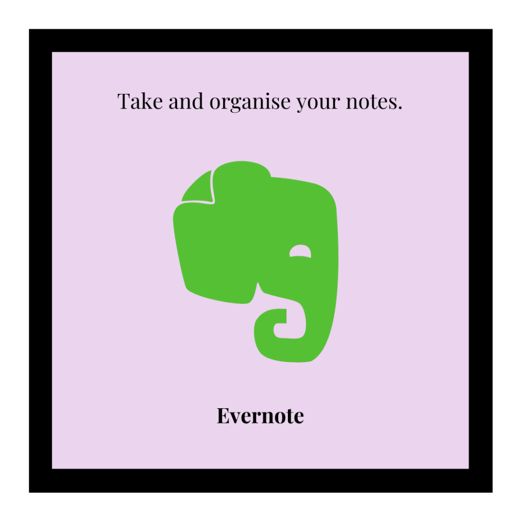 Evernote logo and link