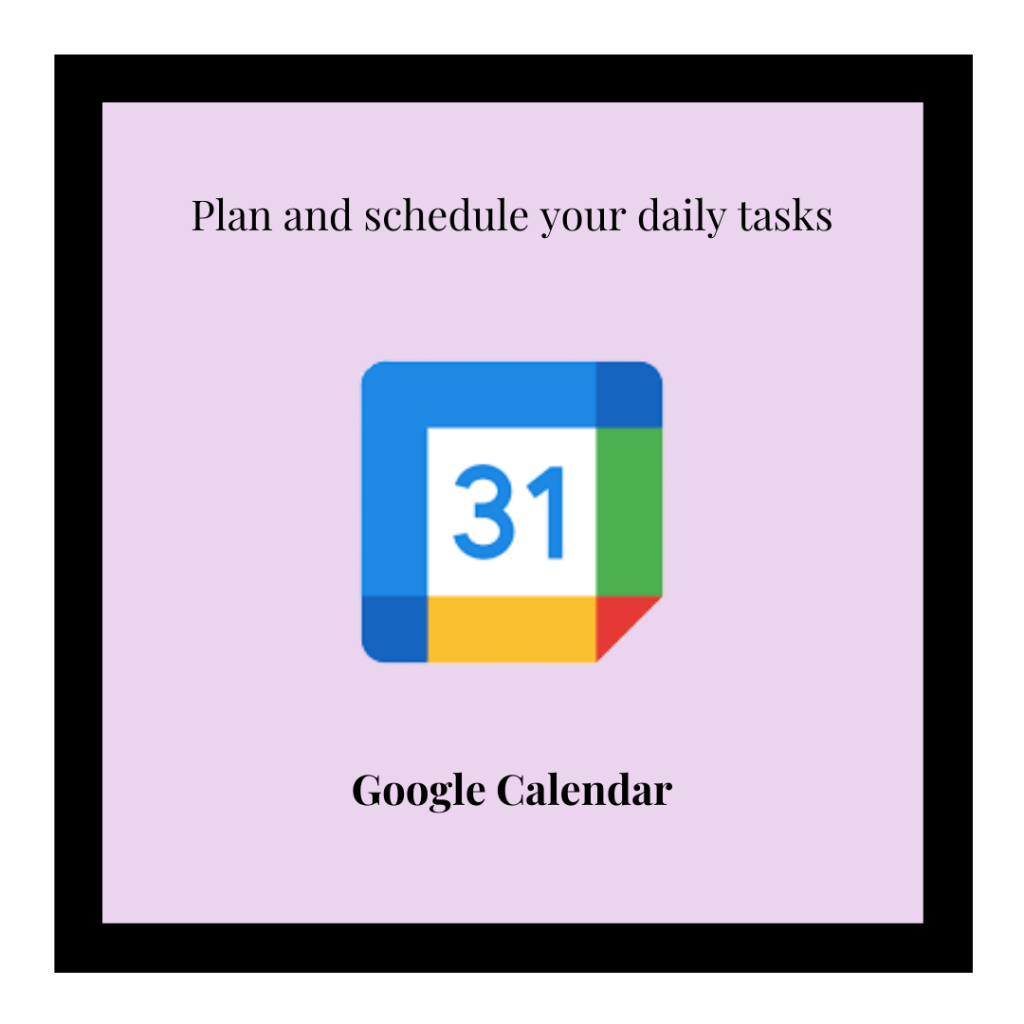 Google calendar logo and link