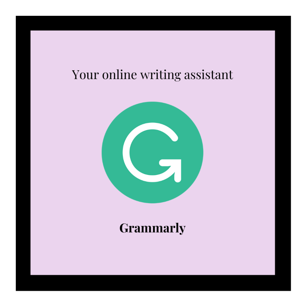 Grammarly logo and link