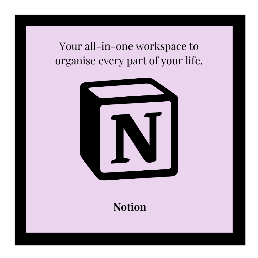 Notion logo and link