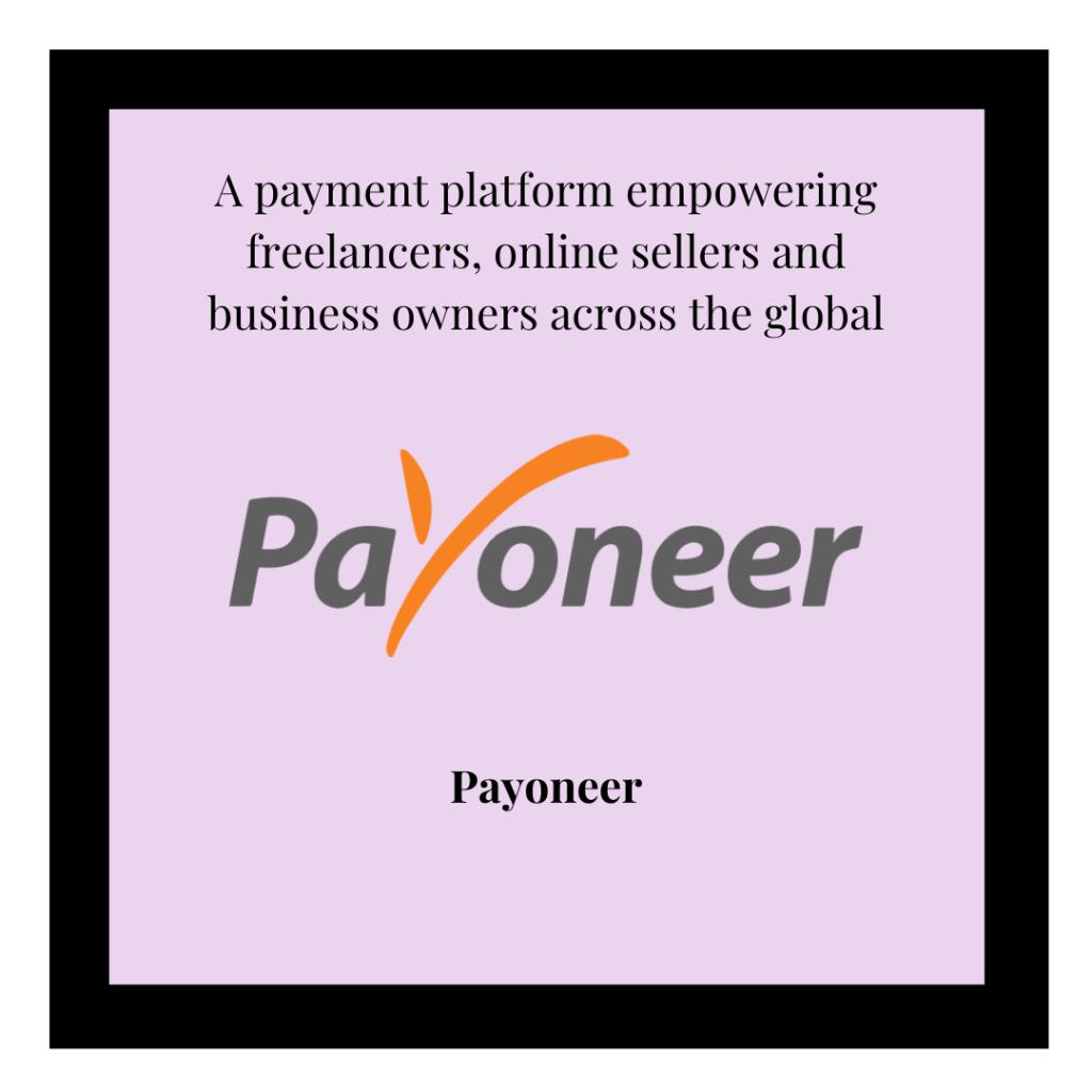 Payoneer logo and referral link