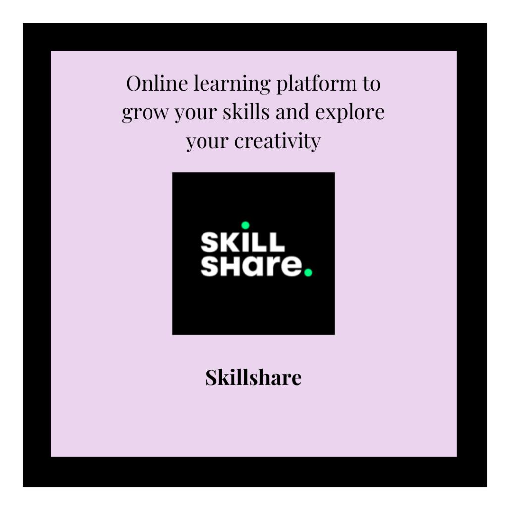 Skillshare logo and referral link