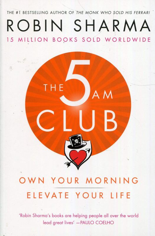 The 5AM Club by Robin Sharma Book Front Cover and link to book on Amazon